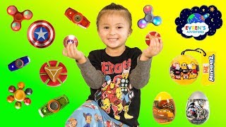 NEW RARE FIDGET SPINNER! Game Challenge Surprise Eggs Disney Cars3 Transformer Minion Surprise Toys