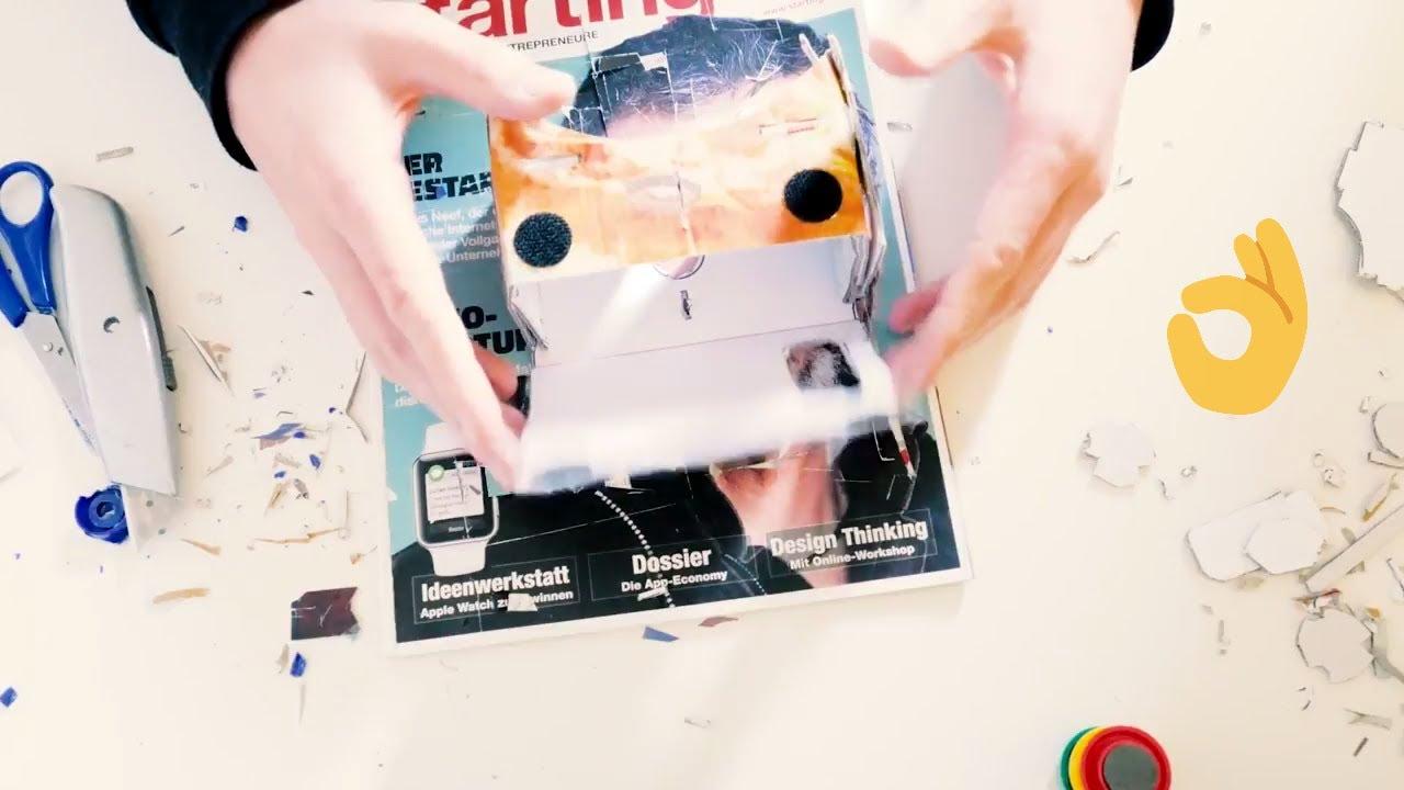 Cardboard Vr Brille Basteln : Diy cardboard selber bauen vr brille selber bauen youtube