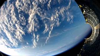Amazing GoPro Shots of Rocket falling back to Earth