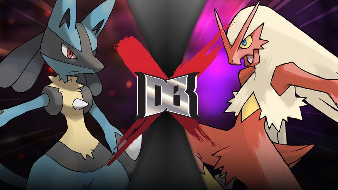 Lucario VS Blaziken (Pokemon Battle)   DBX