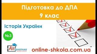 Підготовка до ДПА з історії України №3 (9 клас)