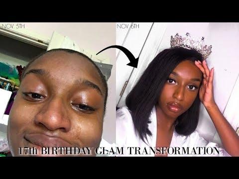 17TH BIRTHDAY GLAM TRANSFORMATION GRWM! | Coco Chinelo