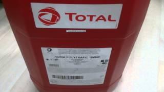 Грузовое масло Total Rubia Polytrafic 10W-40. Обзор.