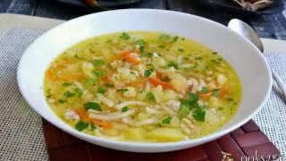 Картофельный суп с фаршем и вермишелью