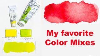 Mixing Watercolor Pigments My TOP 7 color mixes