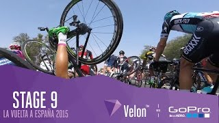 Stage 9 La Vuelta 2015 Fast Descents & Group Crash