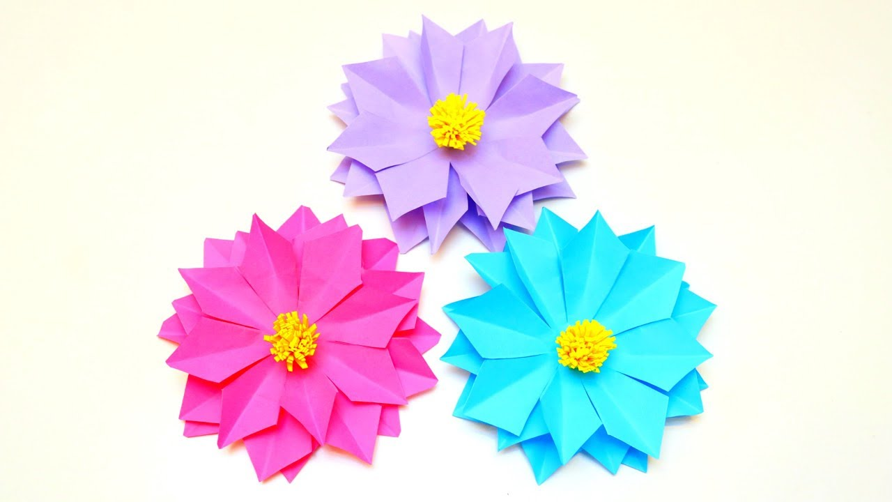 How to make easy and beautiful paper flower paper flowers craft how to make easy and beautiful paper flower paper flowers craft ideas emma diy 53 mightylinksfo