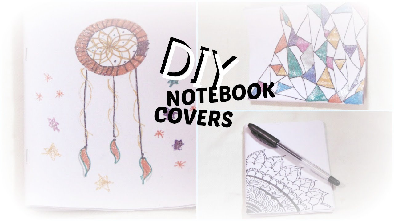 Simple Book Cover Decoration ~ Diy how to make decorate notebook cover idea easy