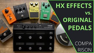 Line 6 HX Effects vs. Analog Effect Pedals - Audio Comparison (no talking)