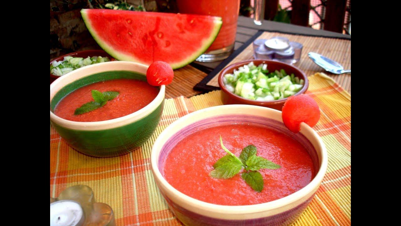 ... Almería) 💃🏻🍉🍅 / Watermelon and Tomato Gazpacho - YouTube