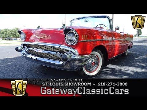#7846 1957 Chevrolet Bel Air Convertible Gateway Classic Cars St. Louis