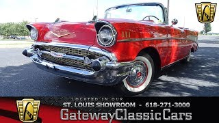 1957 Chevrolet Bel Air Convertible Stock #7846 Gateway Classic Cars St. Louis Showroom