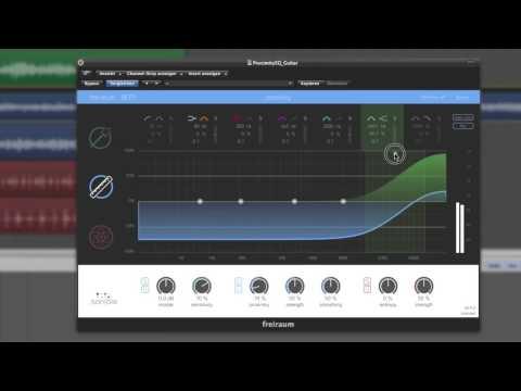 sonible frei:raum: proximity EQ & entropy EQ on guitar