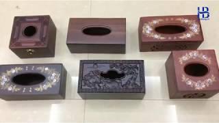 Hộp Khăn Giấy Gỗ Đep Giá Rẻ ở Hà Nội   Cửa hàng Hiếu Bằng