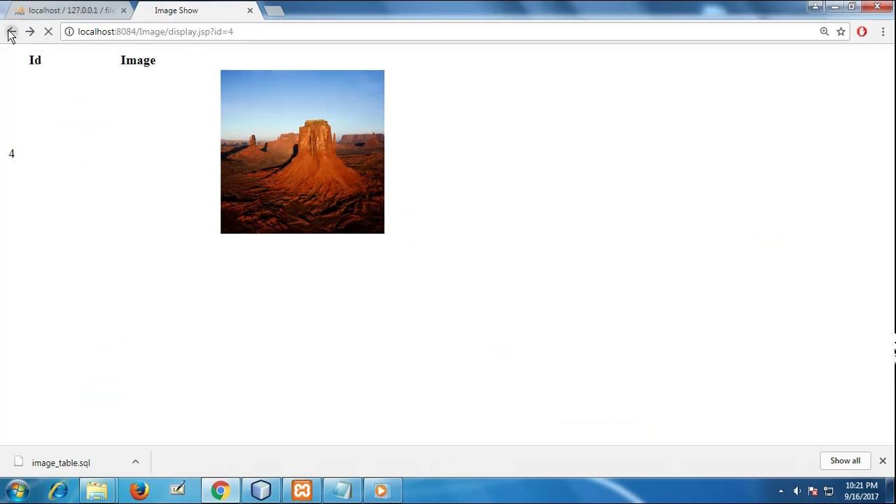 Save and retrieve image from mysql database using servlet and jsp.