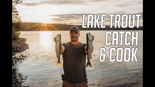 Our New Honda 30 Horse Temagami Lake Trout Fishing Camp Poutine Recipe & Lake Trout Catch and Cook