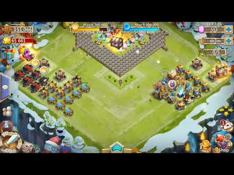 Castle Clash HBM AA Base Design And Heroes!!!