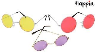 Круглые очки: жёлтые, красные и сиреневые / Обзор