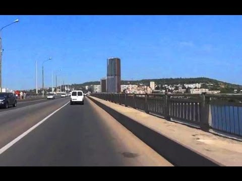 Мост через Волгу Энгельс - Саратов. Вид на город и пляж. Лето. Влог: Россия 2013. Ч.6
