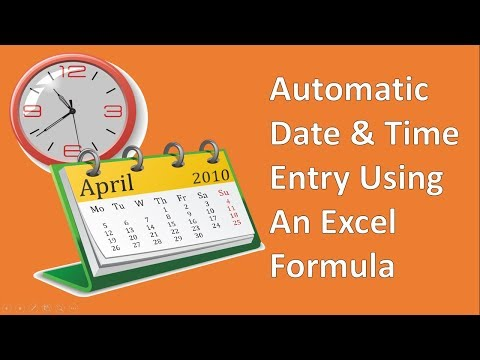 Create A Timestamp In Excel With A Formula