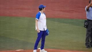 2017.7.17 横浜スタジアム 西畑大吾さん始球式.