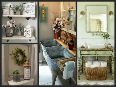 Farmhouse Bathroom Ideas - Rustic Bathroom Decor and Farmhouse Bathroom Storage Inspiration