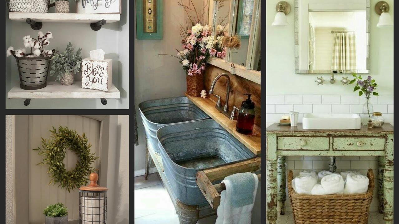 Farmhouse Bathroom Ideas - Rustic Bathroom Decor and ... on Farmhouse Bathroom Ideas  id=86610