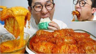Mukbang 매운게 먹고싶다!!캡사이신 묵은지삼겹살김치찜(spicy kimchi jjim)요리 먹방 Eating Show