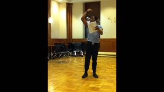 "Passing Strange ""Work the Wound""(rehearsal): Cameron-Mitchell Ware"