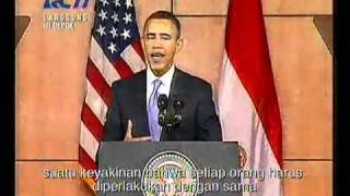 Obama Speech (part 2): Indonesia is a part of me.