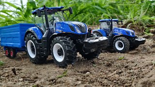 New Holland 4WD Tractor unboxing video | Tractor toy Unboxing videos kids Toy Tractor | Ji boom baa