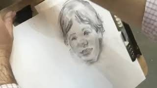 Emil Nikolla Sketch of Twins at The Glades in Bromley, London