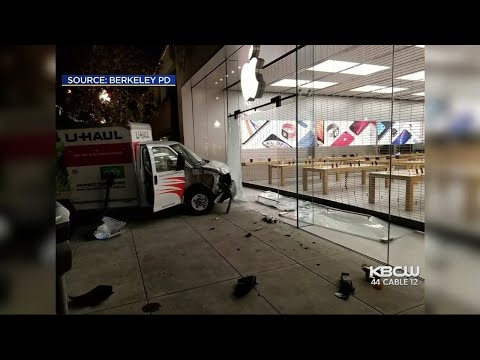 Would-Be Smash-n-Grab Thieves Driving U-Haul Stymied at Berkeley Apple Store Gate