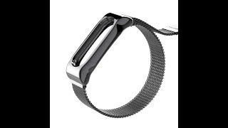 Обзор и распаковка! Ремешок для браслета Xiaomi Mi Band 3 Magnetic Stainless