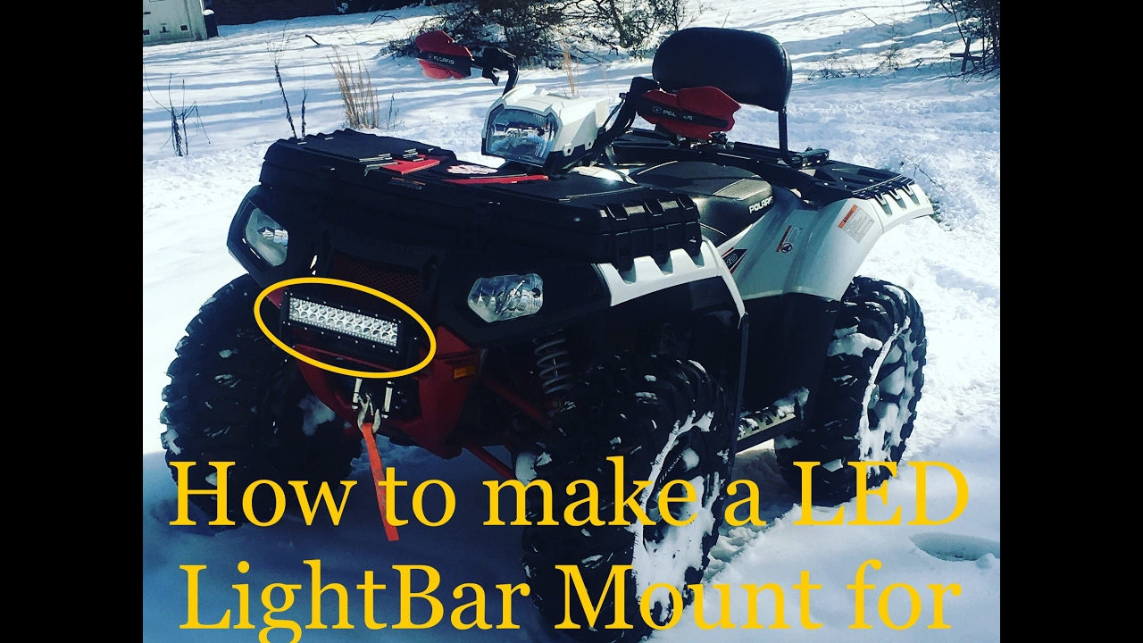 How to mount led light bar to an atv and not drill through plastics how to mount led light bar to an atv and not drill through plastics 2014 polaris 850xp limited aloadofball Gallery