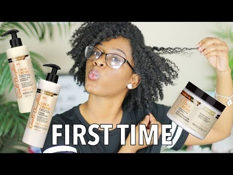 FIRST TIME Using Carol's Daughter Coco Cream On 4C Hair | Wash N Style