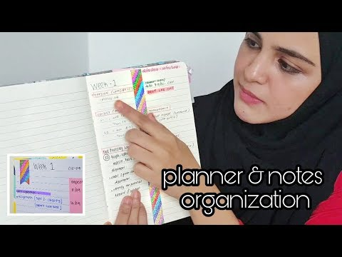 Planner Organization + How I Take Notes (lectures | Uni Edition)