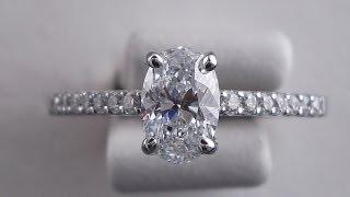 0.90 ctw Oval Cut D-VS2 Diamond Engagement Ring - BigDiamondsUSA