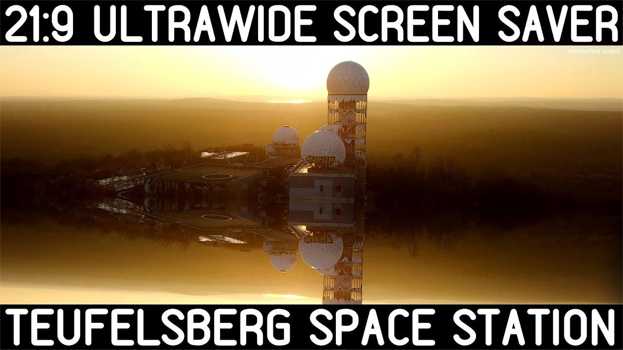 TEUFELSBERG SPACE STATION: perfect 21:9 4K ULTRAWIDE VIDEO screensaver: SUNSET DEVIL'S SPACE STATION