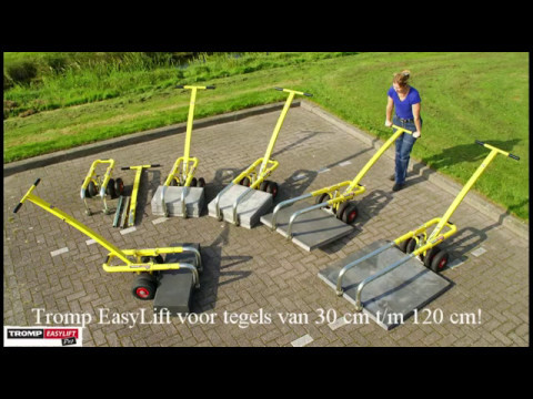 Betontegels 60x40 Gamma.40x60 Lay And Transport Paving Slabs With Tromp Easylift Tesspaver