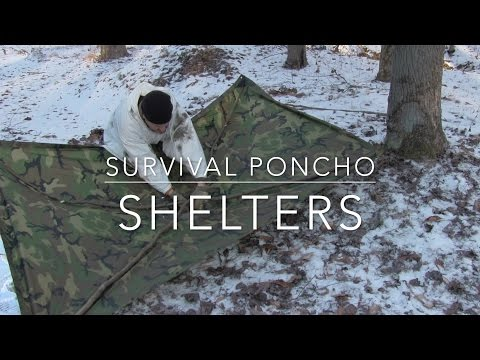 Survival Poncho Shelters