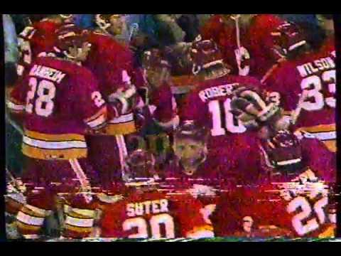 NHL 1990-91 Flames vs. Oilers Game 6 OT