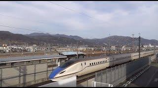 【Bullet train Hokuriku Shinkansen】北陸新幹線 かがやき、はくたか