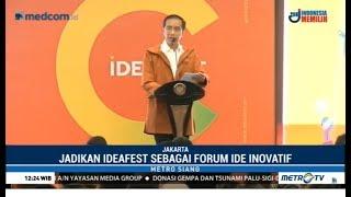 Berpakaian Kekinian, Jokowi Bicara Film Star Trek Saat Buka Ideafest 2018