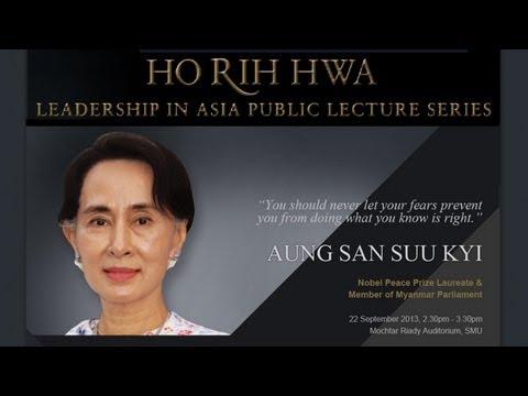 Daw Aung San Suu Kyi - SMU HRH Lecture (22 Sep 2013)