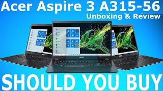 Acer Aspire 3 A315-56 Core i5 10Gen Laptop Should You Buy Or Not Unboxing amp Review Hindi