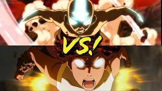 Aang vs. Korra!