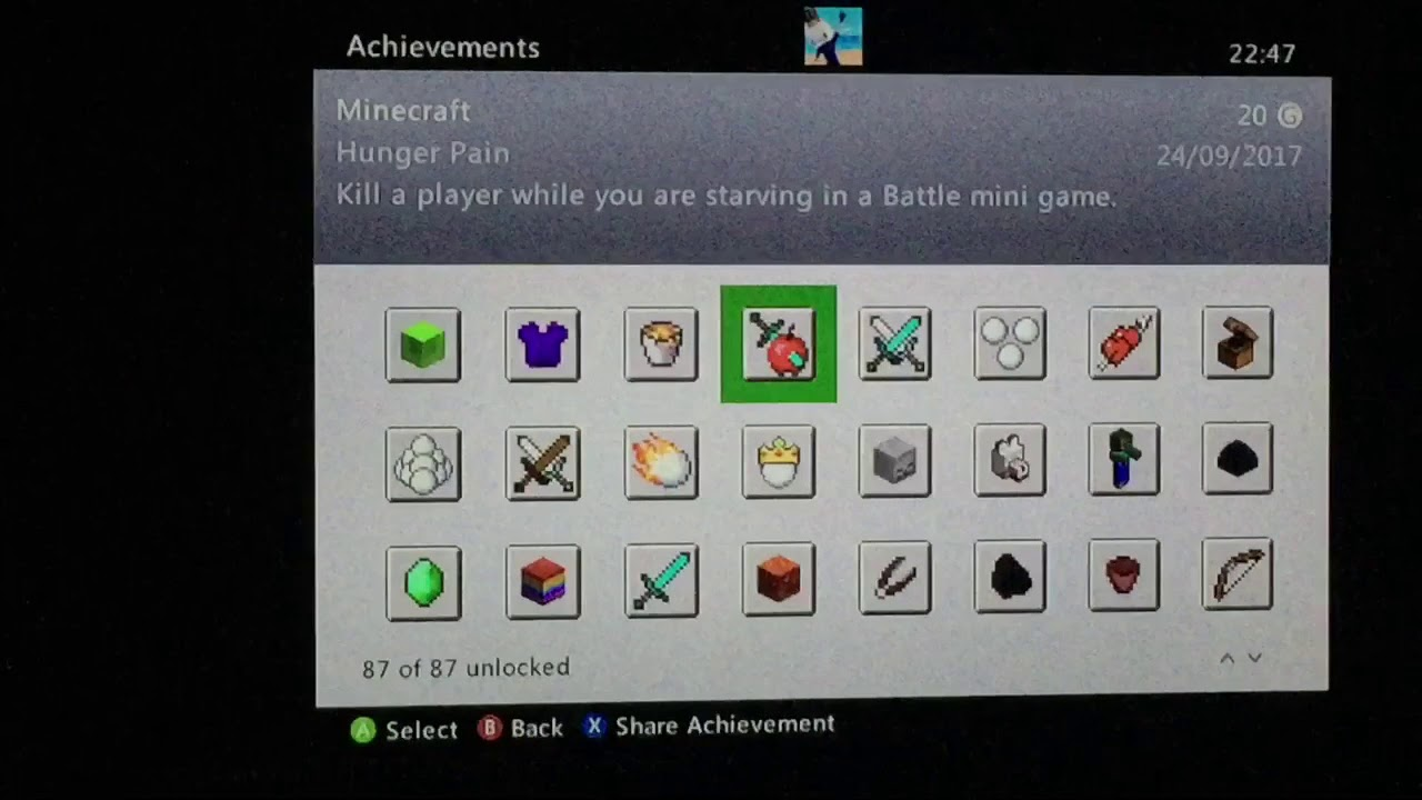 minecraft xbox one achievements not unlocking