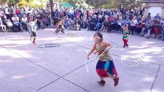 INDIGENOUS PEOPLES DAY 2019 - SANTA FE, NM  Intertribal Hoop Dance