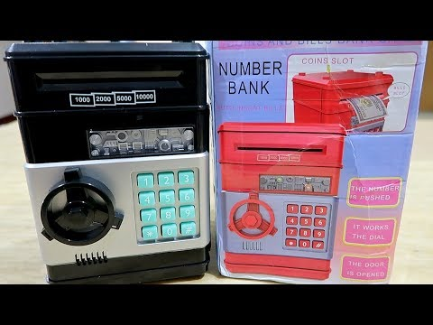 Electronic Money Bank Saving Box With Sound & Password For Kids